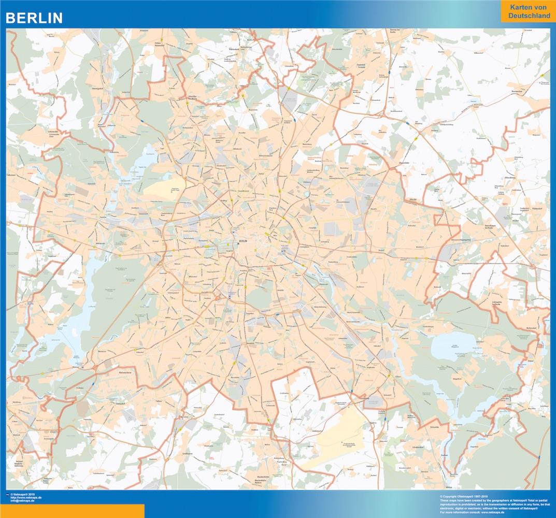 Carte Du Monde Plastifiee.Carte Land Berlin Plastifiee Cartes Plastifiees France Et Monde