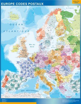 Carte Allemagne Code Postaux.Carte Europe Codes Postaux Plastifiee